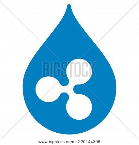 Ripple Drop flat vector pictogram. An isolated icon on a white background.