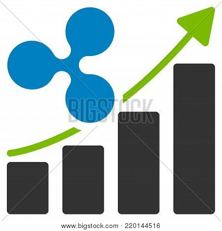 Ripple Growing Trend flat vector illustration. An isolated icon on a white background.