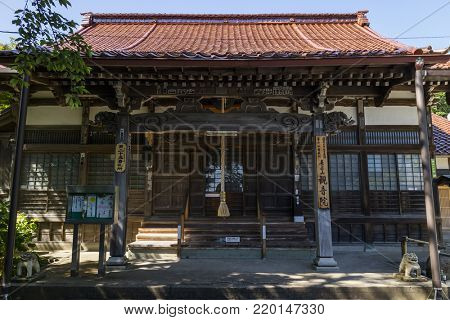 Kanazawa - Japan, June 11, 2017: Hase-san Kannon-in temple in Kanazawa, the 25th temple of the 33 Kanazawa holy places.