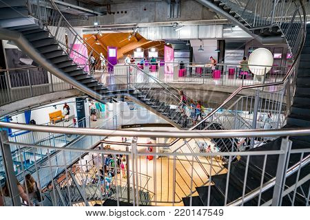 BREMEN GERMANY: JUNE 19, 2017: Universum Science Center building in Bremen. For the first five years since opening, nearly 2.5 million visitors visited the universe of Bremen.