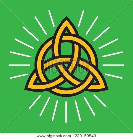 Celtic Infinity Knot Vector Design. Classic knot design symbolizing eternity and symmetry.