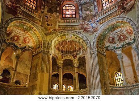 Gallery (ambulatory) of the Basilica of San Vitale - Ravenna, Italy, 17 September 2011