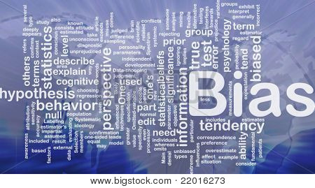 Background concept wordcloud illustration of bias international