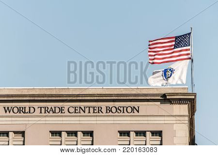 Seaport World Trade Center in Boston The building is located on the Boston waterfront at Commonwealth Pier, in the South Boston neighborhood