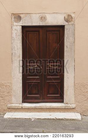 Wooden italian old door