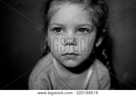 Kid is depressed because of child abuse and domestic violence
