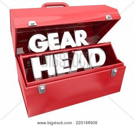 Gearhead Toolbox Mechanic Car Fix Repair Tools 3d Illustration