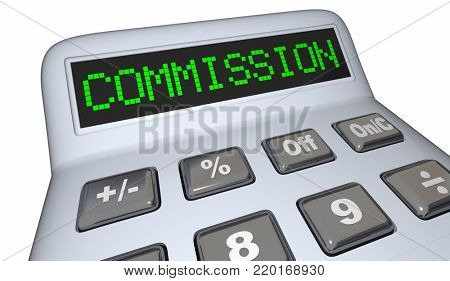 Commission Calculate Money Income Earnings Percentage 3d Illustration