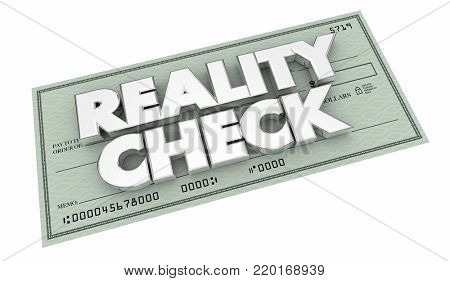 Reality Check Money Verify Real Payment 3d Illustration