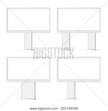 Blank billboard ready for new advertisement, attract billboard, outdoor advertisement bigboard, advertisement display