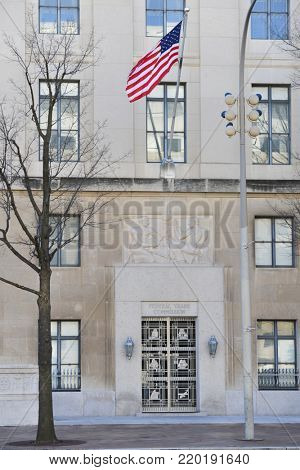 Federal Trade Commission building in Washington DC