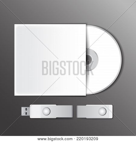 DVD and USB flash drive, audio software mockup