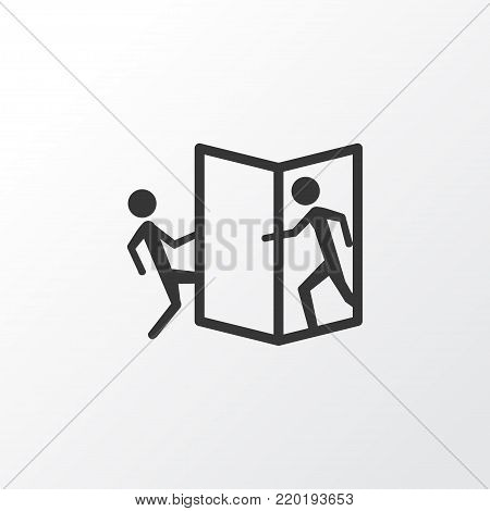 Beware of opening door icon symbol. Premium quality isolated attention element in trendy style.