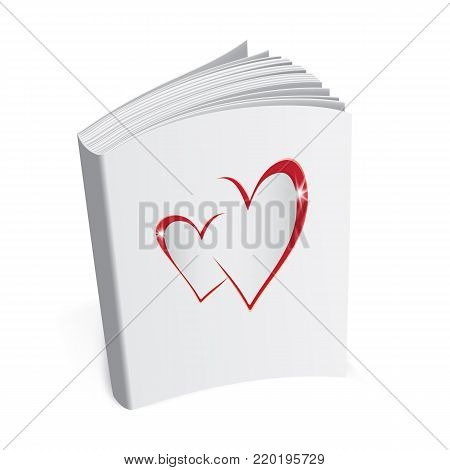 book of Love, Valentines Day poster greeting book