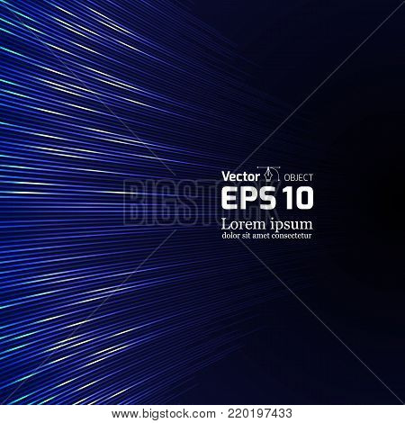 Abstract music equalizer. Vector Illustration Sound equalizer