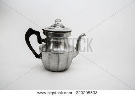Vintage sliver color household Tea kettle in 1930