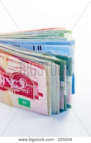Large Canadian Fold Of Money