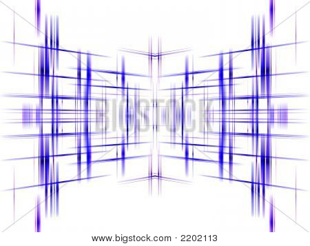 Blue Abstract Grid Background