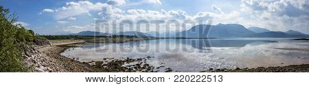 Loch Linnhe at Sallachan Point with the view towards Onich and Glencoe, Ardnamurchan, Scotland
