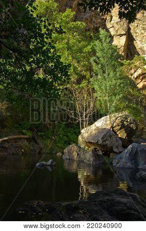 Rocks, Trees And Water At Fragas De Sao Simao