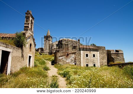 First Ruins Seen On Entering Abandoned Fortress Of Juromenha