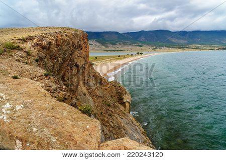 Cape Uyuga. Maloe More On Lake Baikal. Russia