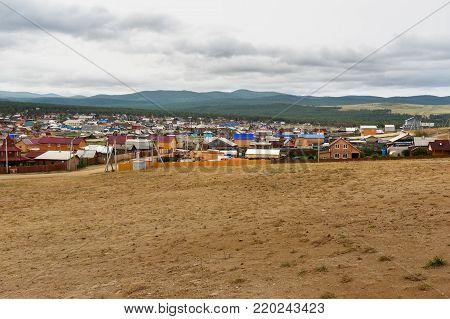 View of Khuzhir Village on Olkhon Island, Siberia, Russia
