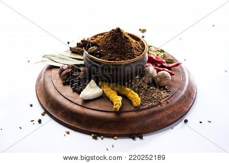 Indian Garam Masala or Indian Spice mix. Selective focus