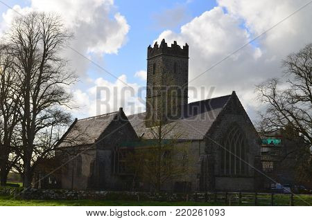 Original Augustinian Abbey across from Adare Manor in Ireland.