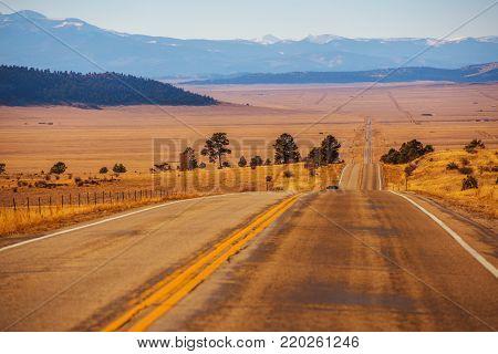 Colorado Countryside Highway near Fairplay, Colorado. United States of America.