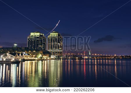 Architecture of Halifax at evening. Halifax, Nova Scotia, Canada.