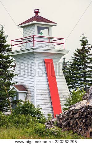 Great Bras d'Or Range Front Lighthouse in Nova Scotia. Nova Scotia, Canada.