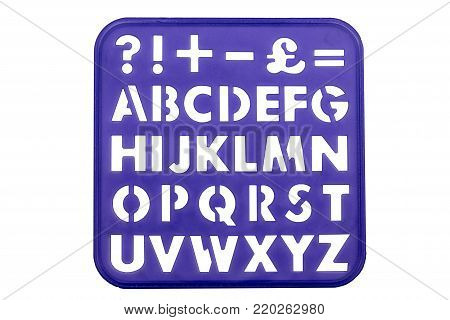 Alphabet And Numbers Stencil Shapes