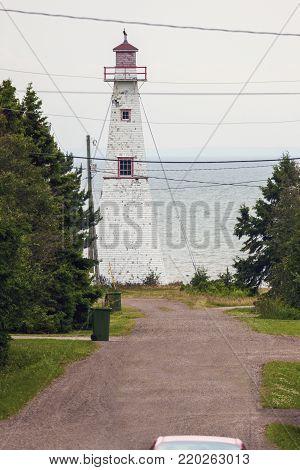 Haszard Point Range Front Lighthouse on Prince Edward Island. Prince Edward Island, Canada.