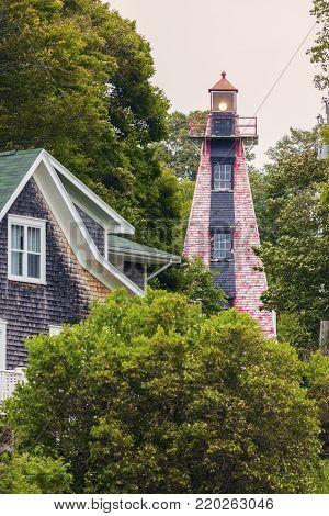 Haszard Point Range Rear Lighthouse on Prince Edward Island. Prince Edward Island, Canada.