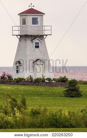 Summerside Outer Range Rear Lighthouse on Prince Edward Island. Prince Edward Island, Canada.