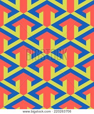 geometric abstract arrow design, a classic art deco motif