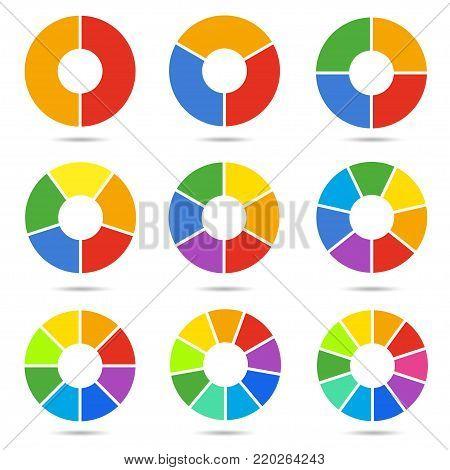 Circle Segments Set Vector Photo Free Trial Bigstock