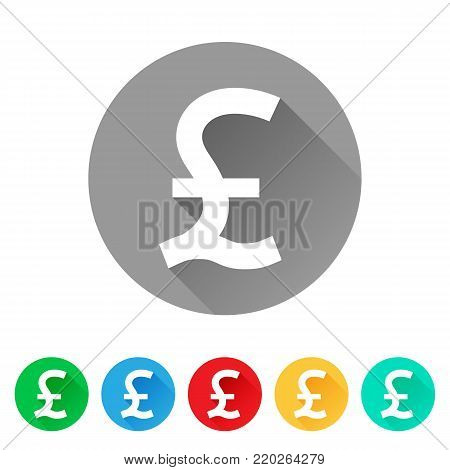 Gbp Set Pound Sign Vector Photo Free Trial Bigstock