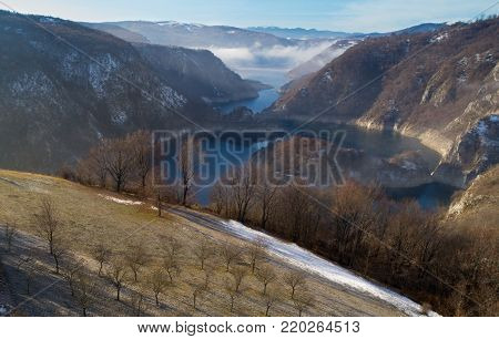 Aerial Image Of Uvac Canyon In Serbia