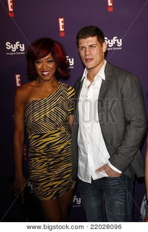 SAN DIEGO - JUL 23: Alicia Fox; Cody Rhodes at the SyFy/E! Comic-Con Party at Hotel Solamar in San Diego, California on July 23, 2011.