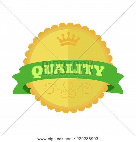 Top Quality Gold Vintage Custom Badge Emblem Vector Illustration Graphic Design