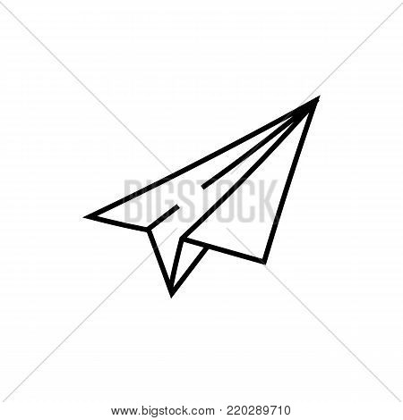 Paper airplane icon isolated on white background. Hand drawn Paper airplane icon. Flat style. Paper airplane vector sketch icon for infographic, website design, app or ui.