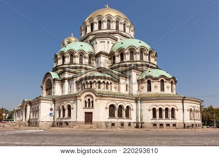 Alexander Nevsky Cathedral in Sofia, Bulgaria. Biggest church in Bulgaria