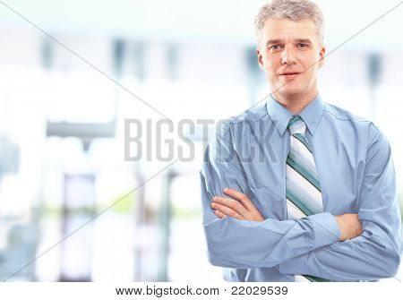 Portrait of a happy successful mature business man
