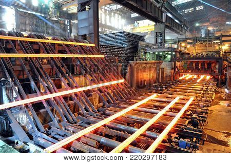 Production Of Steel In A Steel Mill - Production In Heavy Industry