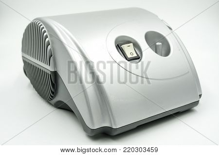 nebulizer medical equipment on white background of file with Clipping Path .