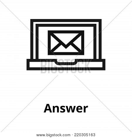 Answer thin line icon. Icon for user interface and web