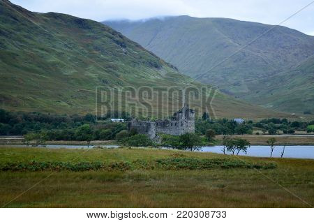 View of Kilchurn Castle found in Loch Awe.