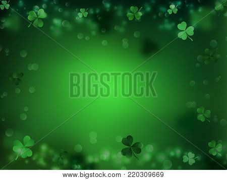 St. Patrick's Day. Green background by a St. Patrick's Day.